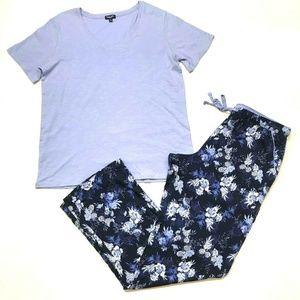 Splendid Women's 2 Piece Lounge Set Shirt and Pant